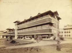 Nurses' Quarters (Front View), St George's Hospital, [Bombay].